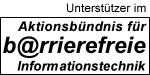 Das Unterstützer-Logo des Aktionsbündnis für barrierefreie Informationstechnik