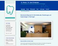 Ansicht der Startseite von www.werner-uberchristensen.de. Link öffnet diese Seite im gleichen Fenster.